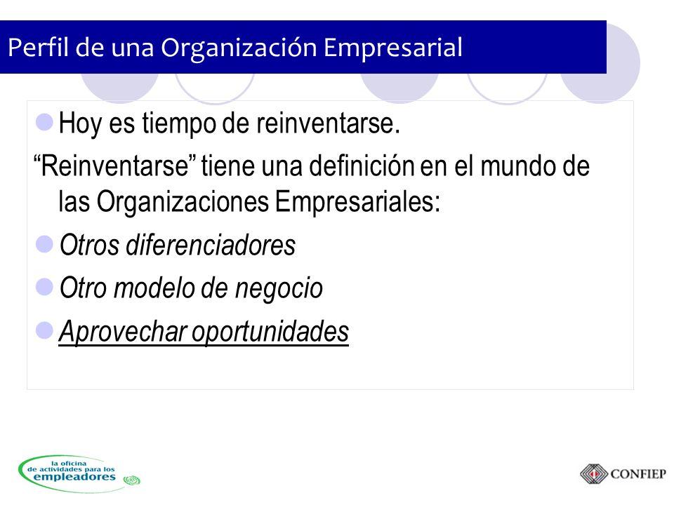 Perfil de una Organización Empresarial Hoy es tiempo de reinventarse.