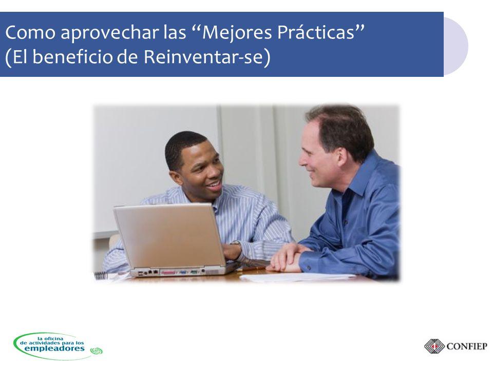 Como aprovechar las Mejores Prácticas (El beneficio de Reinventar-se)