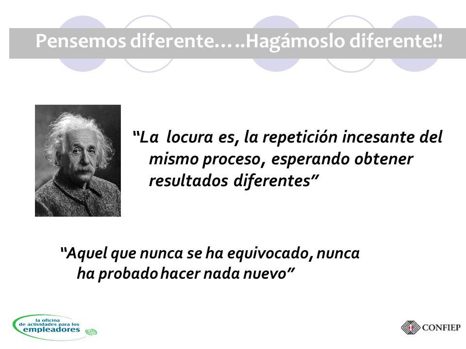 Pensemos diferente…..Hagámoslo diferente!.