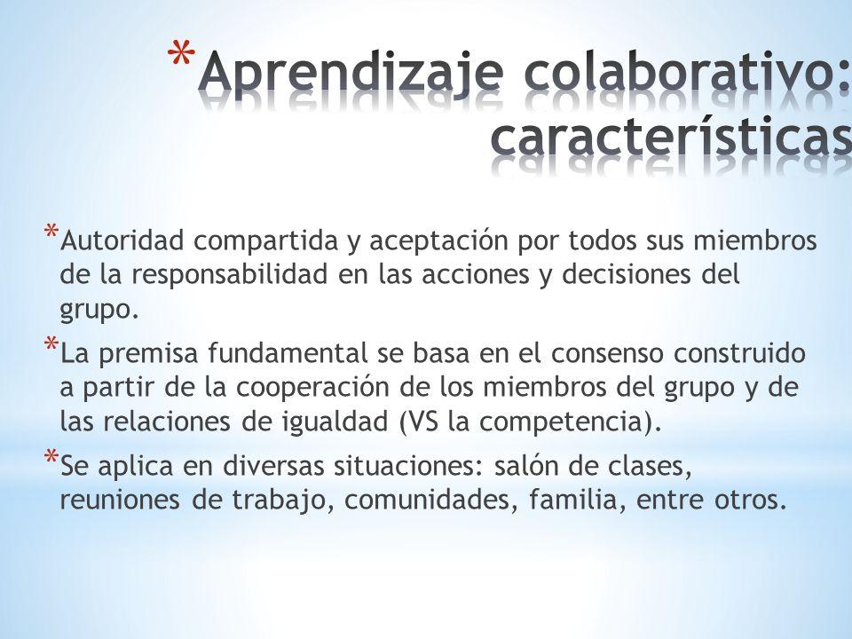 * Autoridad compartida y aceptación por todos sus miembros de la responsabilidad en las acciones y decisiones del grupo. * La premisa fundamental se b