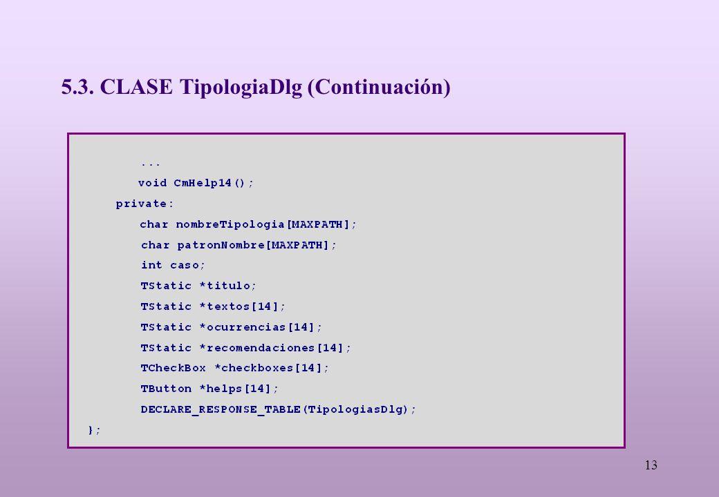13 5.3. CLASE TipologiaDlg (Continuación)