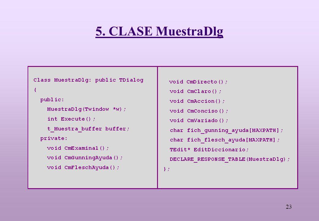 23 5. CLASE MuestraDlg