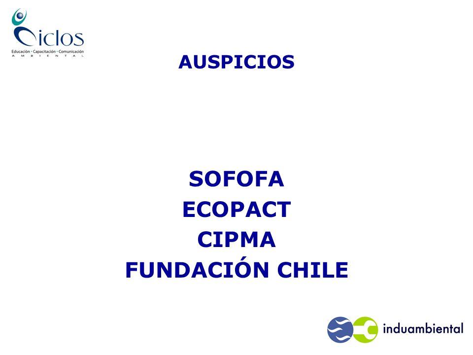 AUSPICIOS SOFOFA ECOPACT CIPMA FUNDACIÓN CHILE