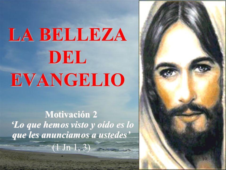 9 Jesucristo te ama, dio su vida para salvarte, y ahora está vivo a tu lado cada día para iluminarte, para fortalecerte, para liberarte Es esta la primordial tarea de la Iglesia Juan Pablo II (Redemptoris Missio, 34)