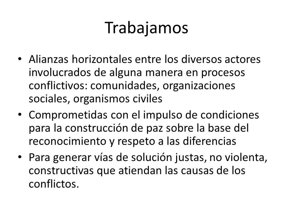 Diagnóstico que nos permita un marco para el diseño de estrategias de TPC Observatorio de la Conflictividad en México.