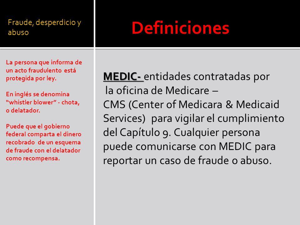 Fraude, desperdicio y abuso La persona que informa de un acto fraudulento está protegida por ley.