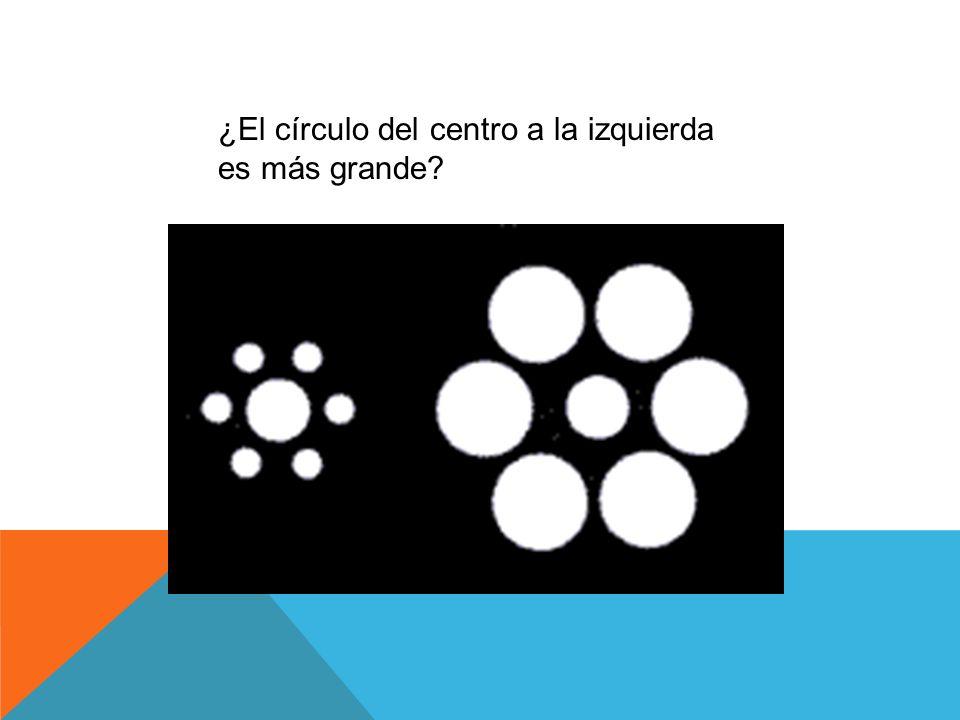 ¿El círculo del centro a la izquierda es más grande?