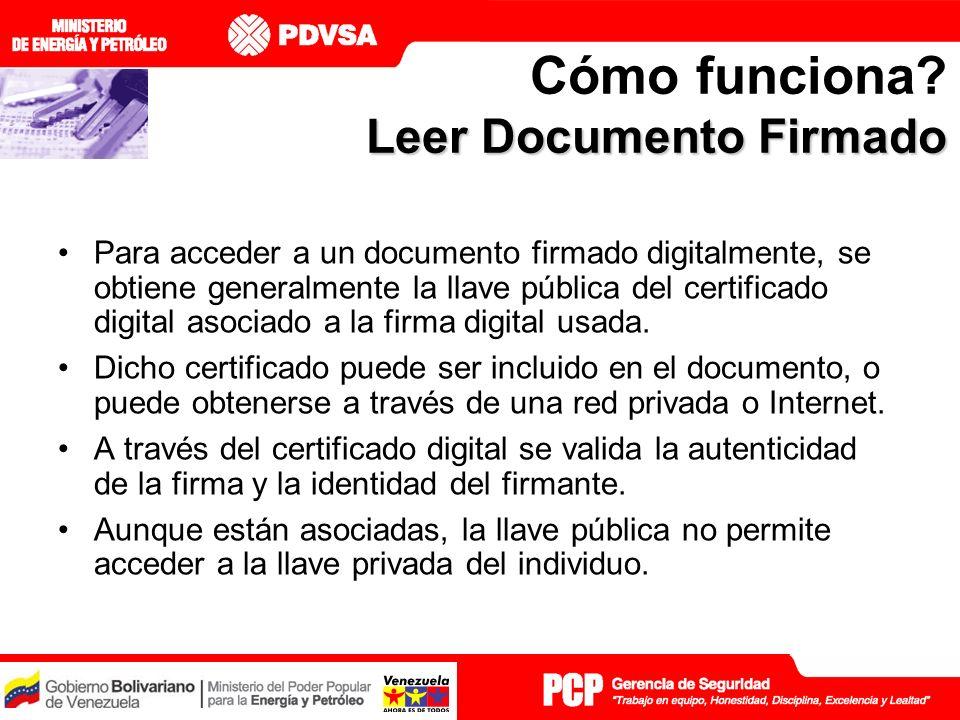 Leer Documento Firmado Cómo funciona.