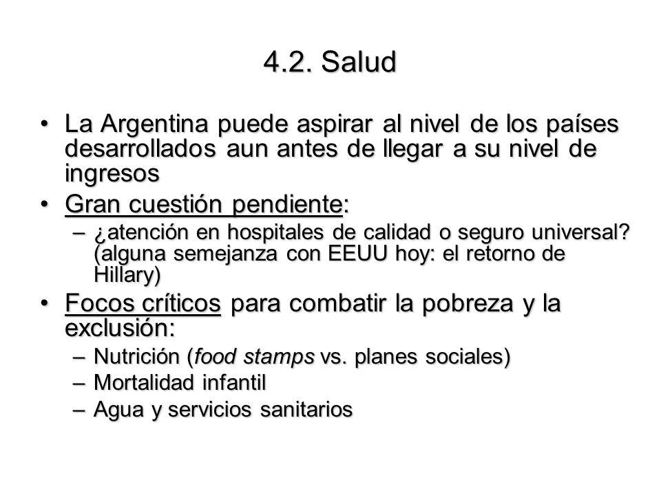 La Argentina puede aspirar al nivel de los países desarrollados aun antes de llegar a su nivel de ingresosLa Argentina puede aspirar al nivel de los p
