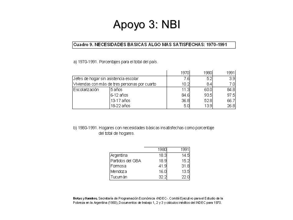 Apoyo 3: NBI