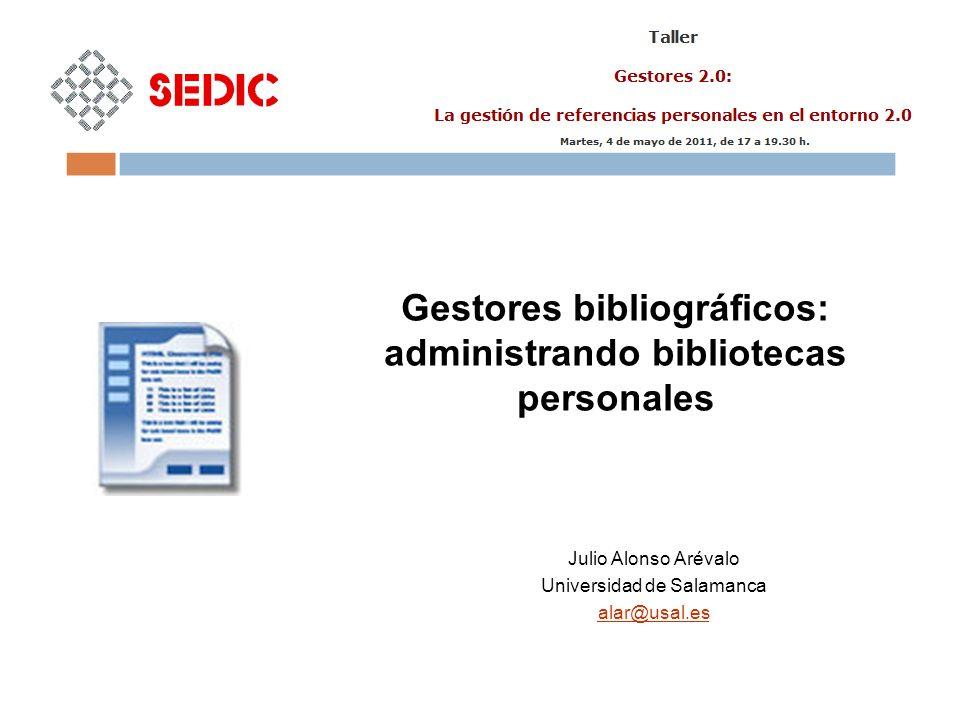 Ventajas Versión local y web gratuita Estadísticas de uso Visor de PDFs incorporado Inconvenientes Lentitud versión web http://www.mendeley.com/