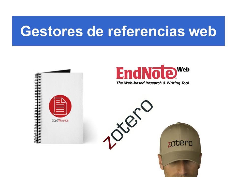Gestores de referencias web