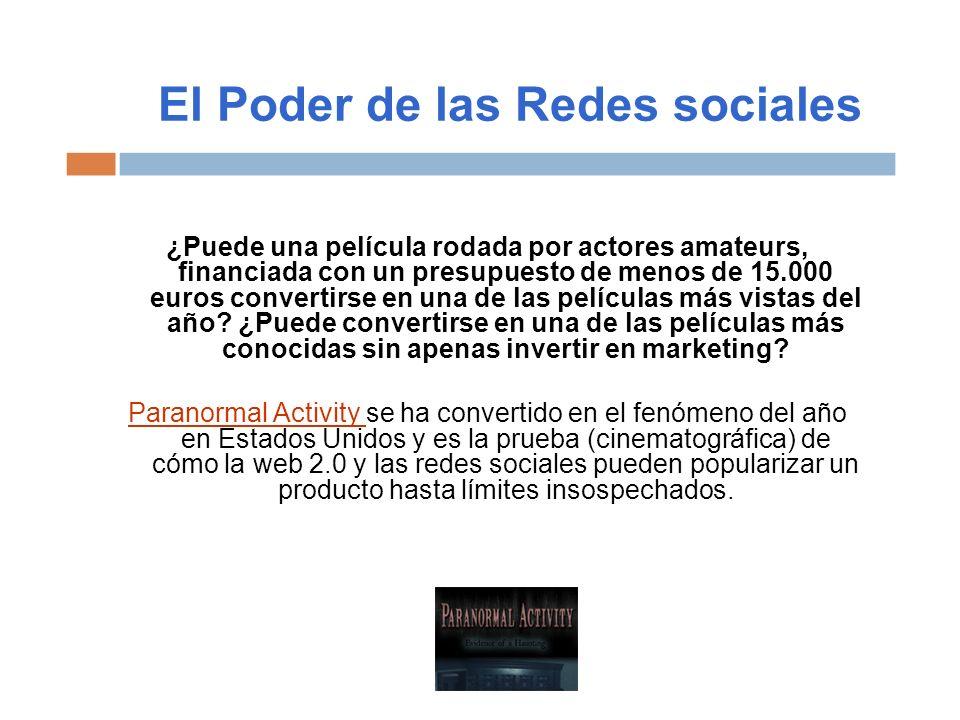 El Poder de las Redes sociales ¿Puede una película rodada por actores amateurs, financiada con un presupuesto de menos de 15.000 euros convertirse en
