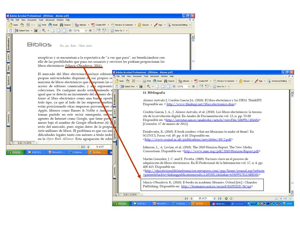 Características básicas de un Gestor de referencias Entrada de datos Existen tres maneras básicas para importar datos desde las distintas fuentes al gestor de referencias 1.Automática.