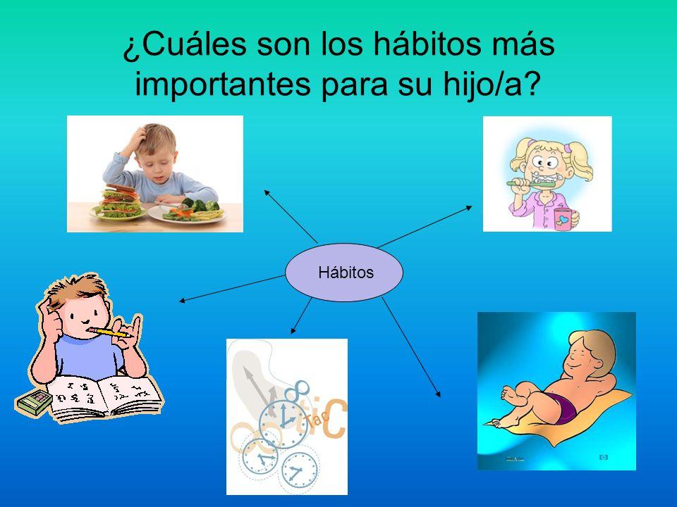 ¿Cuáles son los hábitos más importantes para su hijo/a? Hábitos