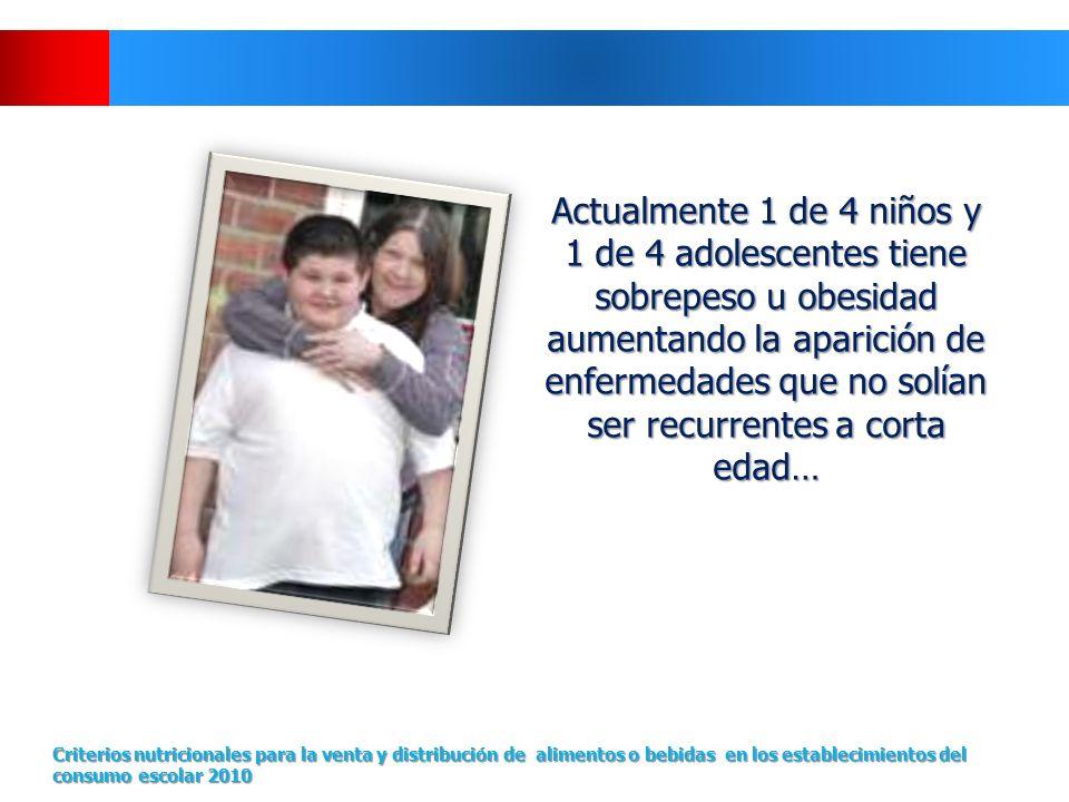 Actualmente 1 de 4 niños y 1 de 4 adolescentes tiene sobrepeso u obesidad aumentando la aparición de enfermedades que no solían ser recurrentes a cort