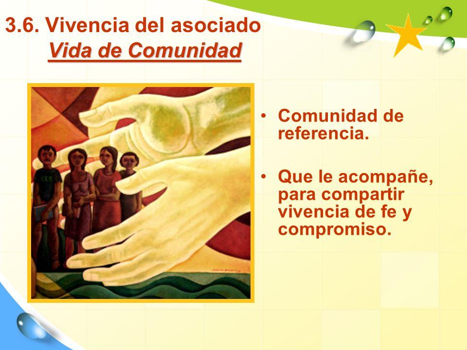 Vida de Comunidad 3.6.Vivencia del asociado Vida de Comunidad Comunidad de referencia.