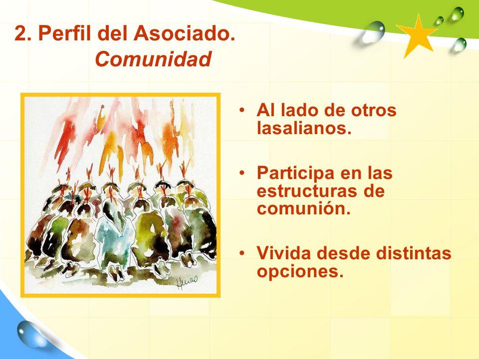 2.Perfil del Asociado. Comunidad Al lado de otros lasalianos.