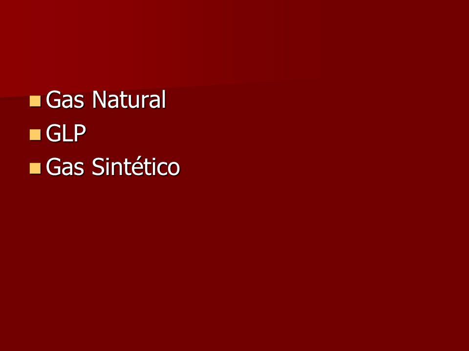Gas Natural Gas Natural GLP GLP Gas Sintético Gas Sintético