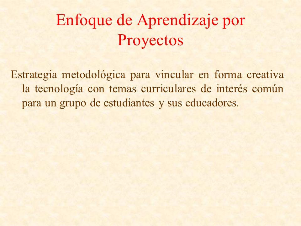 Enfoque de Aprendizaje por Proyectos Estrategia metodológica para vincular en forma creativa la tecnología con temas curriculares de interés común par