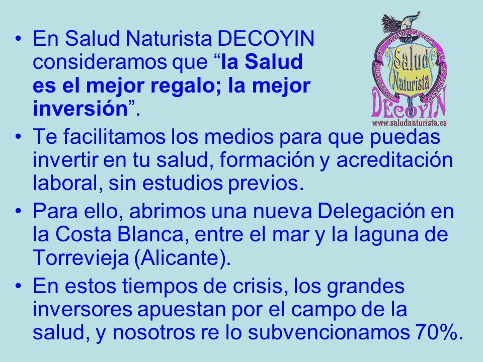 En Salud Naturista DECOYIN consideramos que la Salud es el mejor regalo; la mejor inversión.