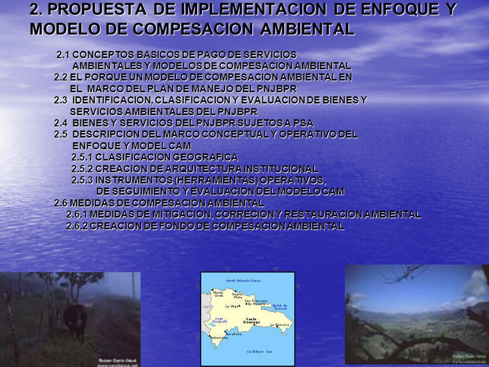 2. PROPUESTA DE IMPLEMENTACION DE ENFOQUE Y MODELO DE COMPESACION AMBIENTAL 2.1 CONCEPTOS BASICOS DE PAGO DE SERVICIOS 2.1 CONCEPTOS BASICOS DE PAGO D