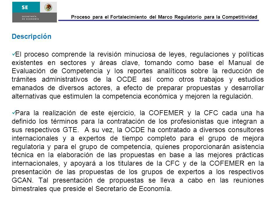 Los titulares de la CFC y la COFEMER presentan las propuestas elaboradas por los expertos a sus respectivos GCAN para que sean analizadas, evaluadas y complementadas con sus recomendaciones.
