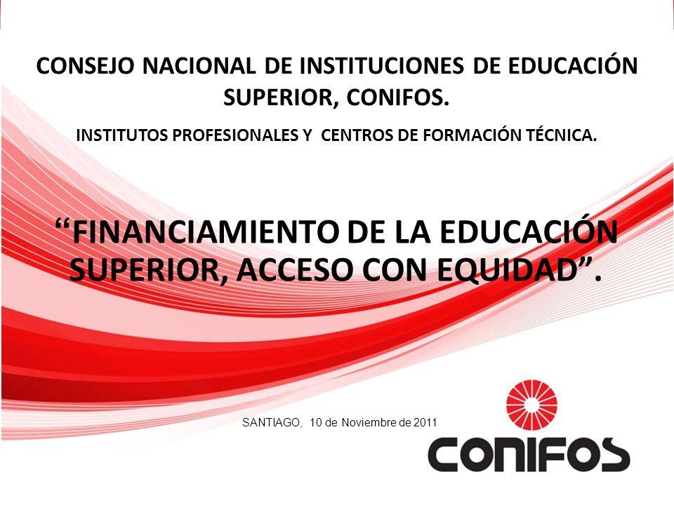 FINANCIAMIENTO DE LA EDUCACIÓN SUPERIOR, ACCESO CON EQUIDAD. CONSEJO NACIONAL DE INSTITUCIONES DE EDUCACIÓN SUPERIOR, CONIFOS. INSTITUTOS PROFESIONALE