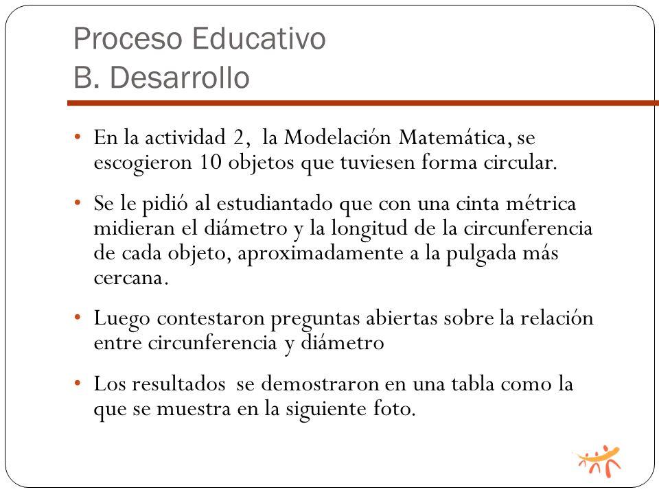 Proceso Educativo B.