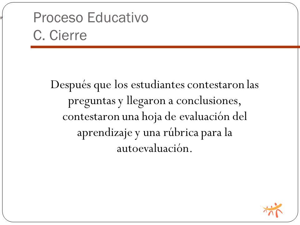 Proceso Educativo C.