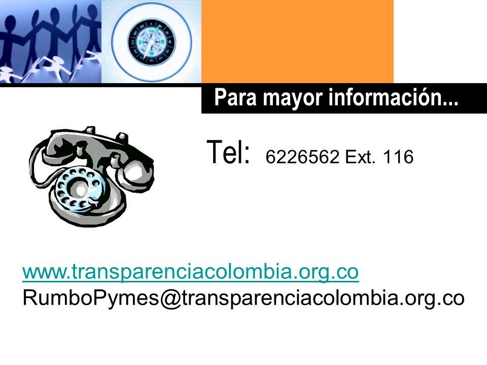 Haga clic para cambiar el estilo de título Tel: 6226562 Ext.