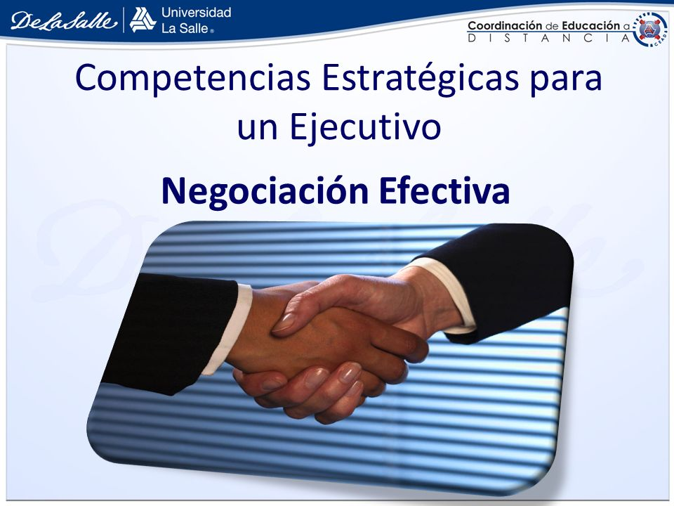 Competencias Estratégicas para un Ejecutivo Negociación Efectiva