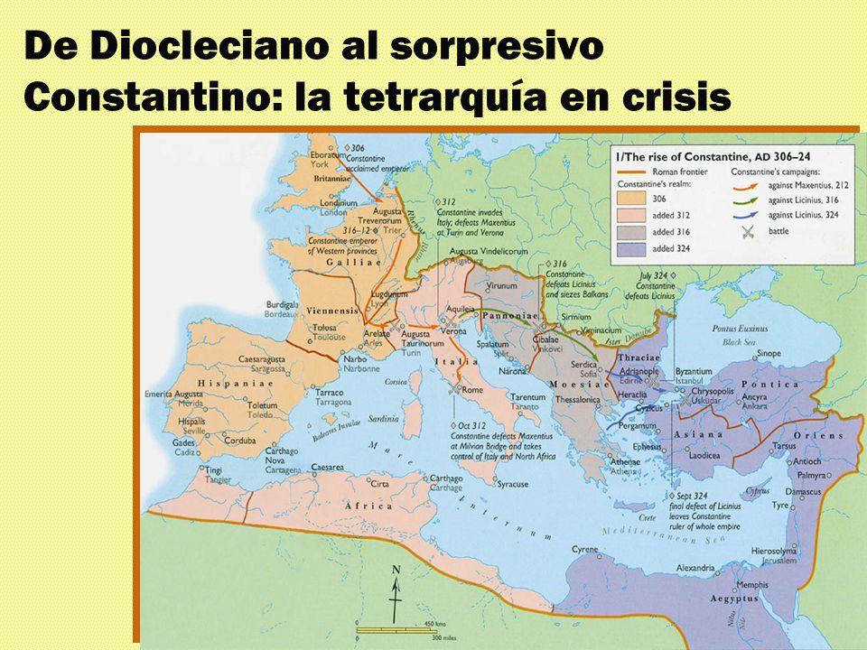 Los mil rostros El triunfante siglo IV De Diocleciano al sorpresivo Constantino: la tetrarquía en crisis
