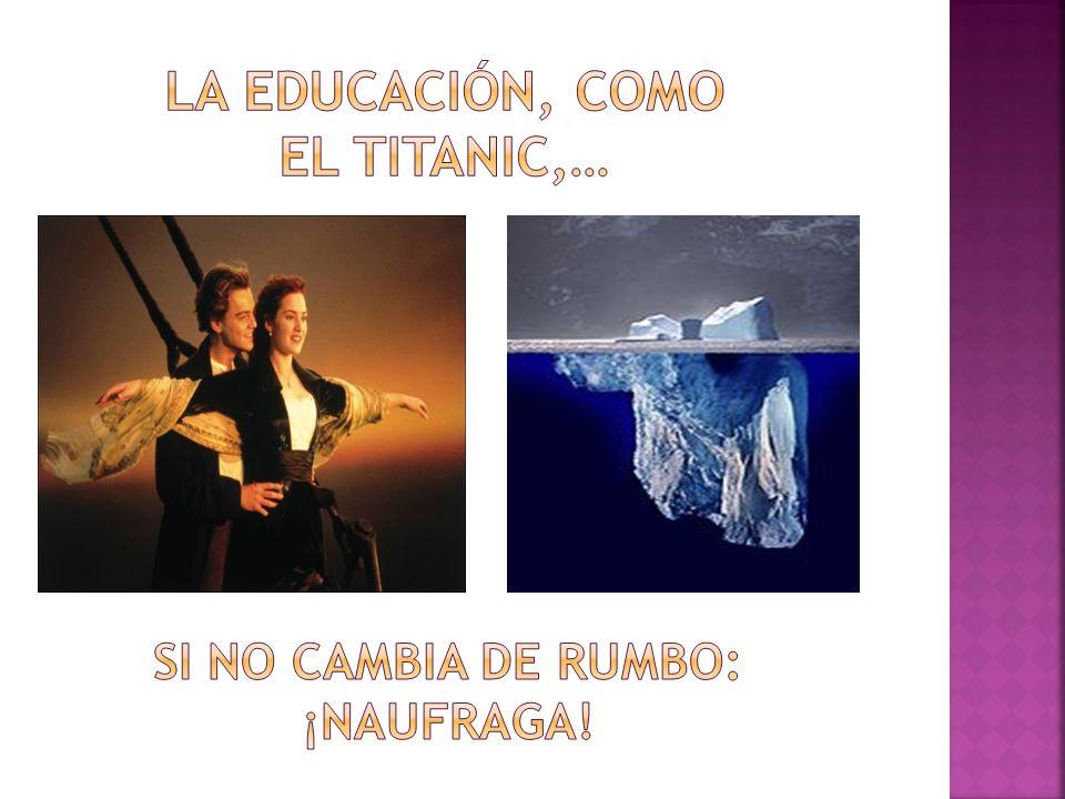Nos preocupa lo que vemos por encima de la superficie, la punta del iceberg: Fracaso y abandono escolar.