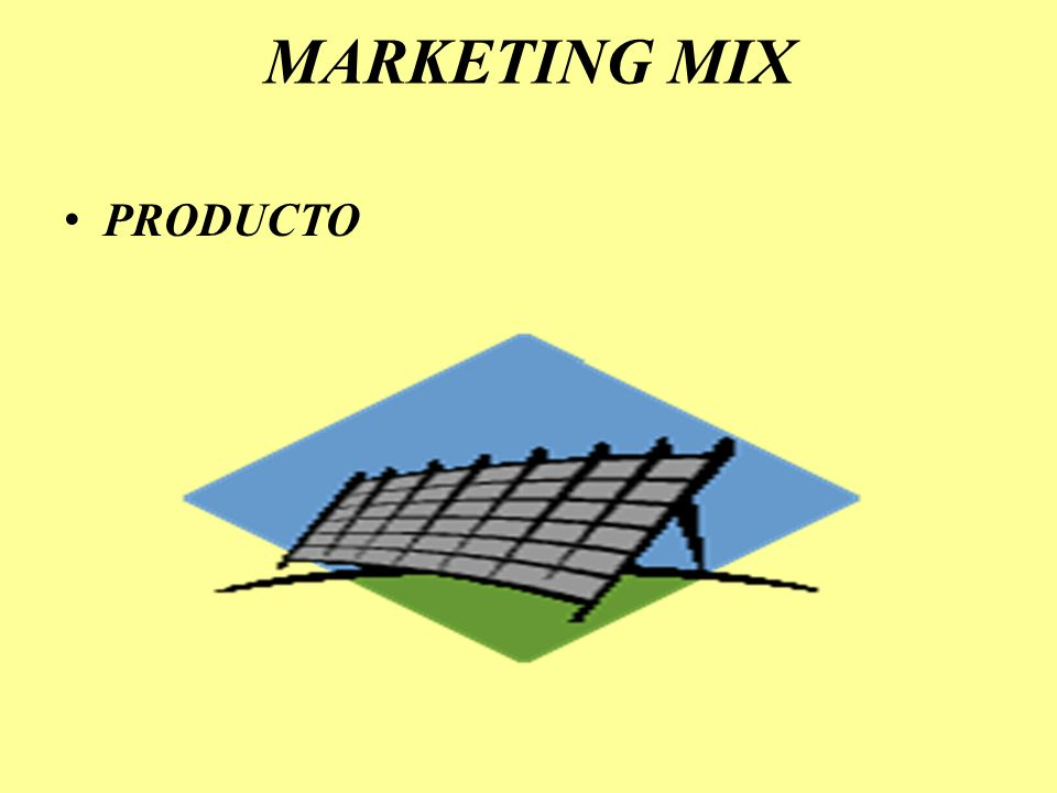 MARKETING MIX PRODUCTO