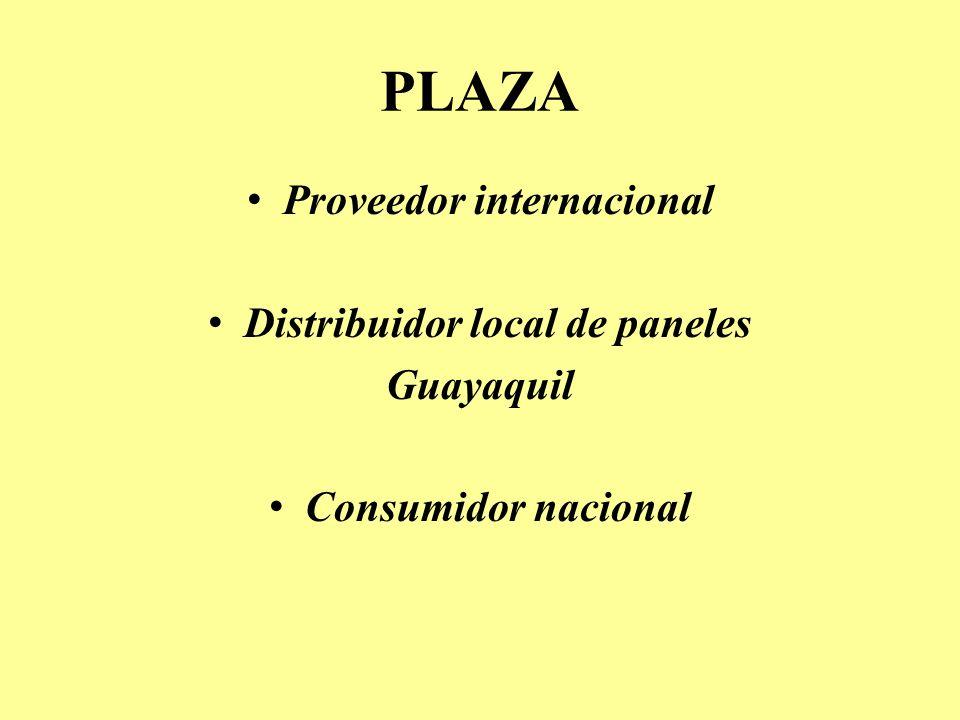 PLAZA Proveedor internacional Distribuidor local de paneles Guayaquil Consumidor nacional