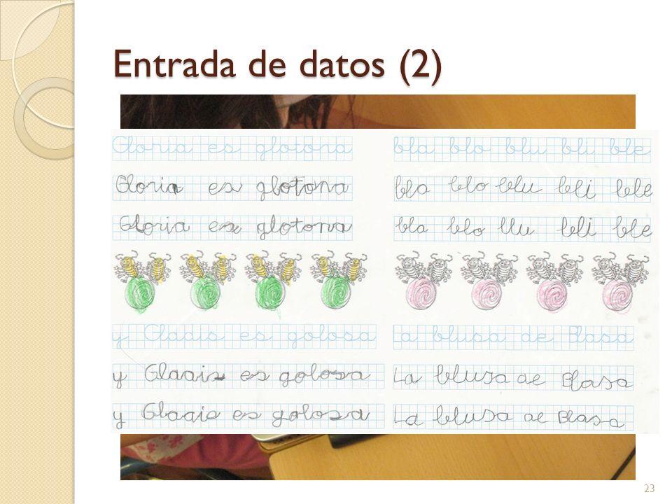 Entrada de datos (2) 23