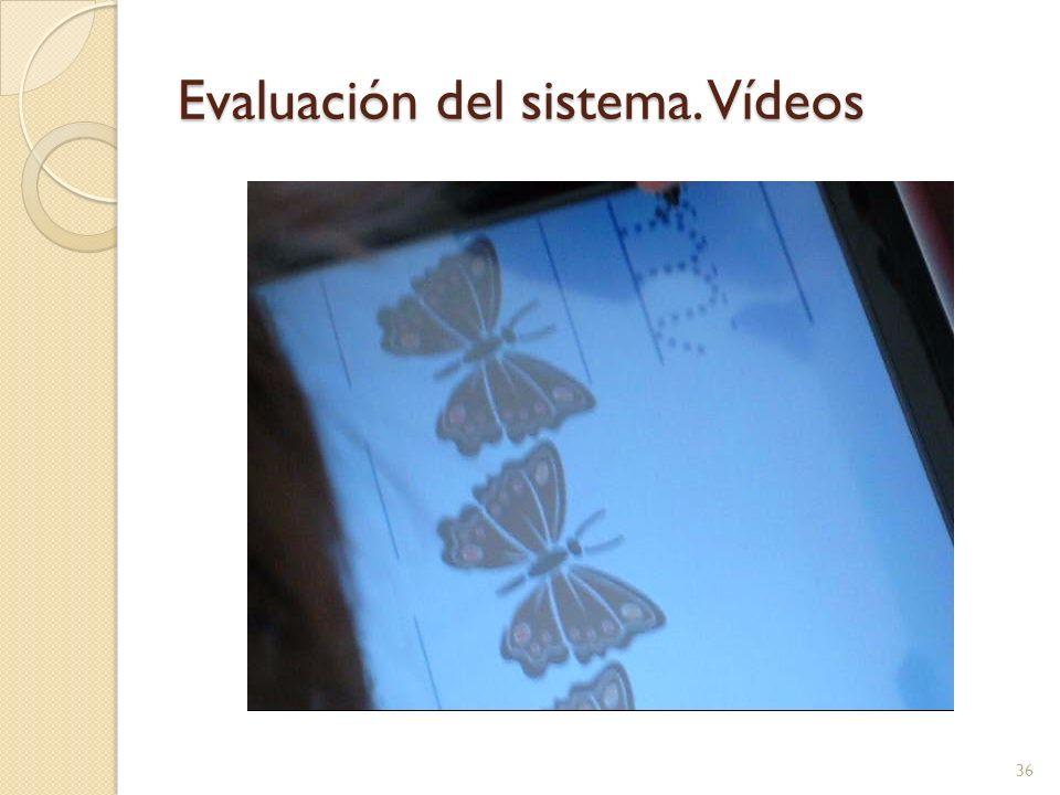 Evaluación del sistema. Vídeos 36