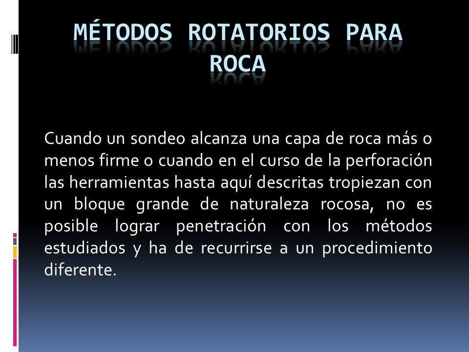 MÉTODOS ROTATORIOS PARA ROCA.