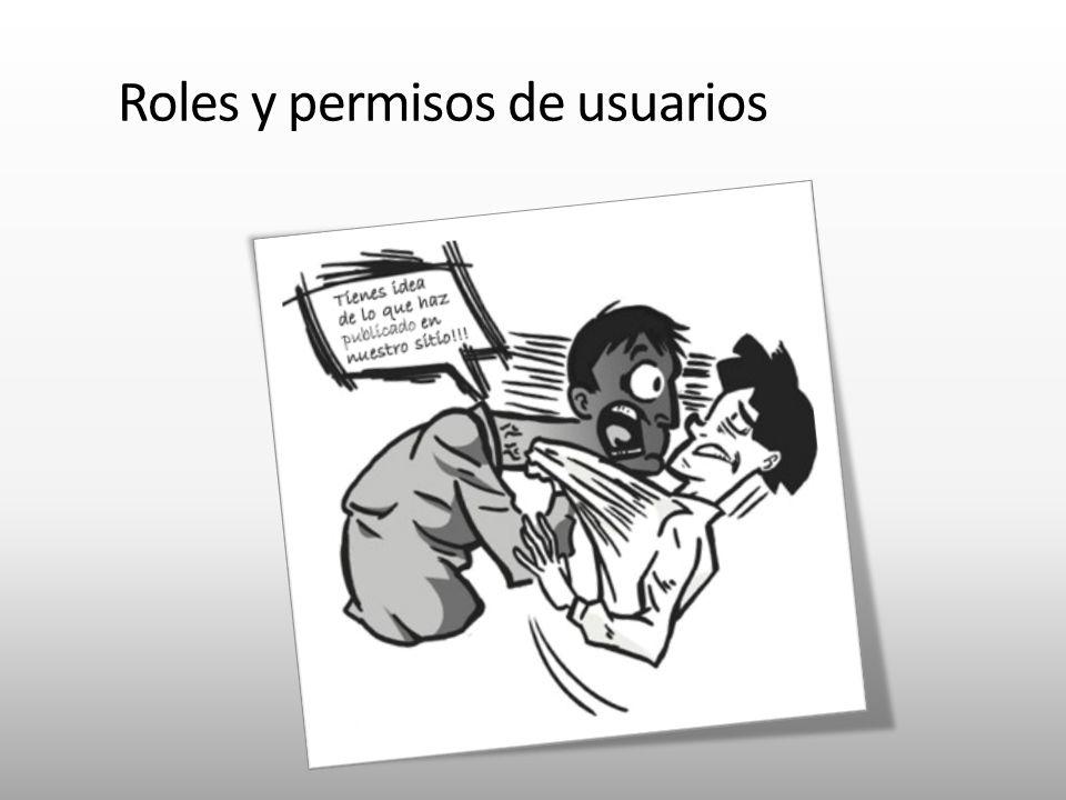 Roles y permisos de usuarios