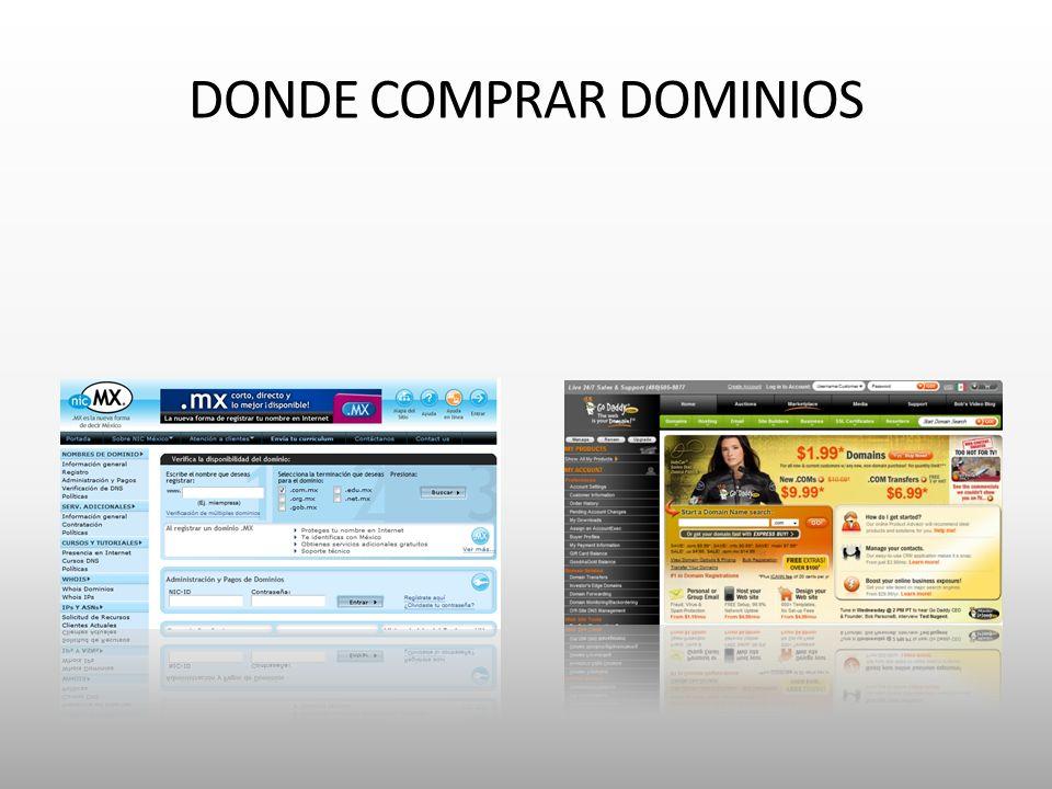 DONDE COMPRAR DOMINIOS