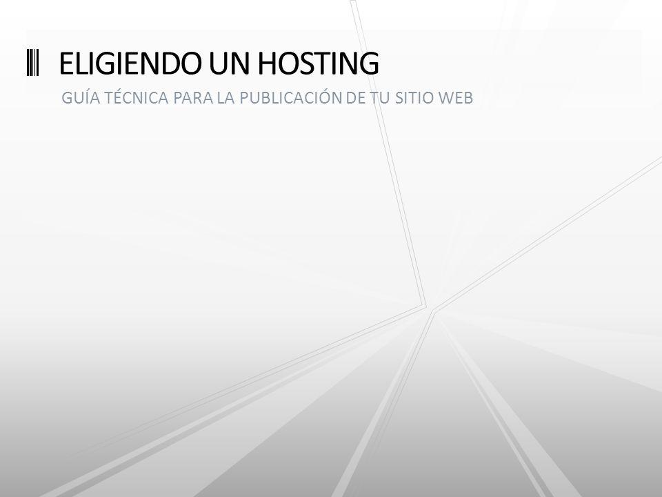 GUÍA TÉCNICA PARA LA PUBLICACIÓN DE TU SITIO WEB ELIGIENDO UN HOSTING