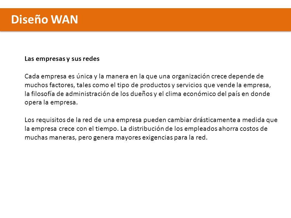 Diseño WAN Modelos de Red Modelo de diseño jerárquico El modelo de red jerárquico es una herramienta de alto nivel, útil para diseñar una infraestructura de red confiable.