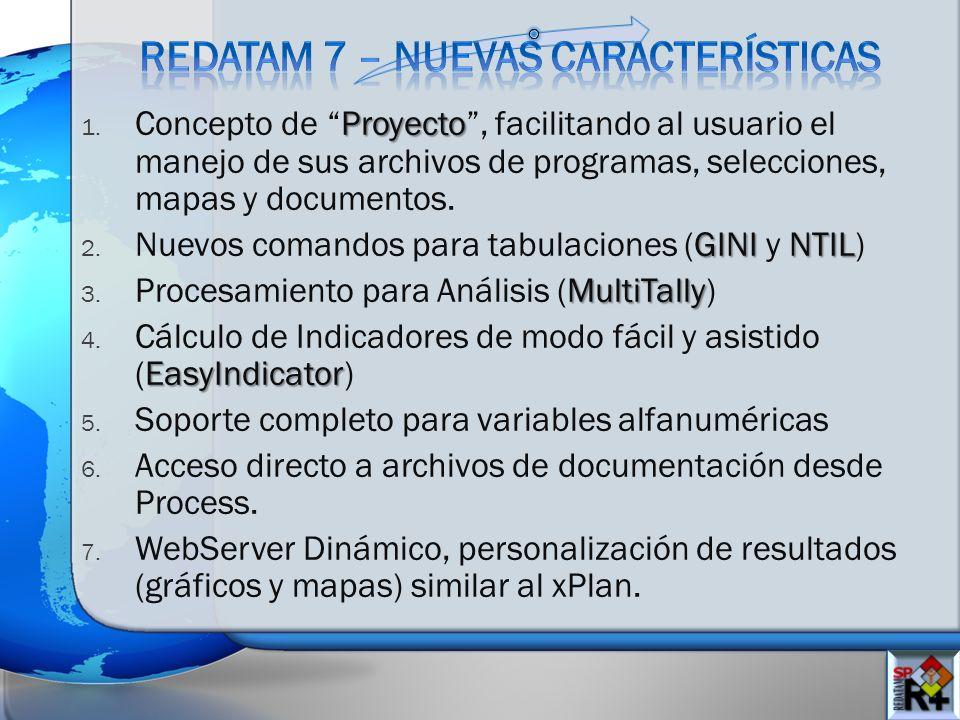 Proyecto 1. Concepto de Proyecto, facilitando al usuario el manejo de sus archivos de programas, selecciones, mapas y documentos. GININTIL 2. Nuevos c