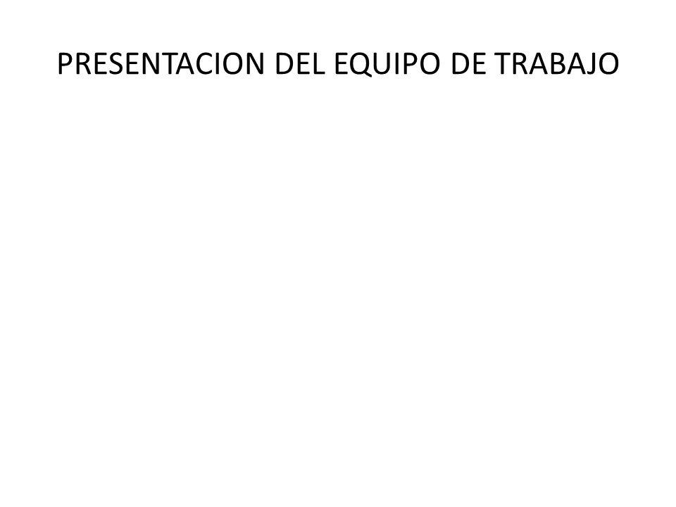 PRESENTACION DEL EQUIPO DE TRABAJO