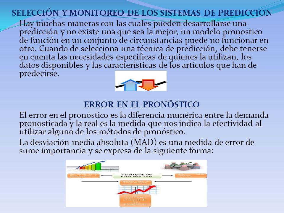 SELECCIÓN Y MONITOREO DE LOS SISTEMAS DE PREDICCION Hay muchas maneras con las cuales pueden desarrollarse una predicción y no existe una que sea la m