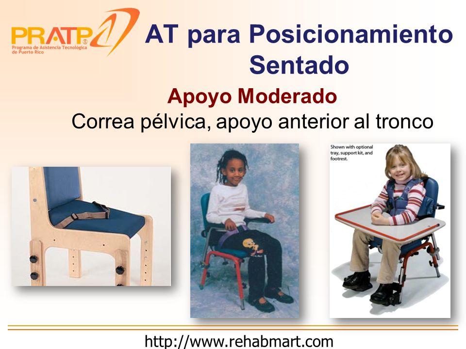 ® AT para Posicionamiento Sentado Apoyo Mínimo Cuña y soporte posterior a pelvis