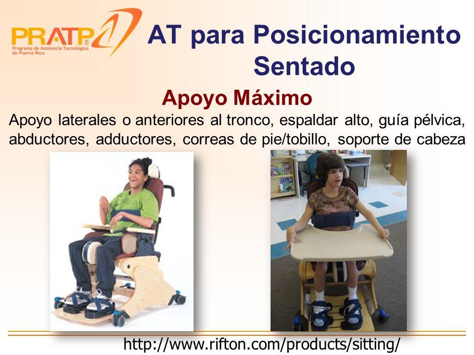 ® AT para Posicionamiento Sentado Apoyo Moderado Correa pélvica, apoyo anterior al tronco http://www.rehabmart.com