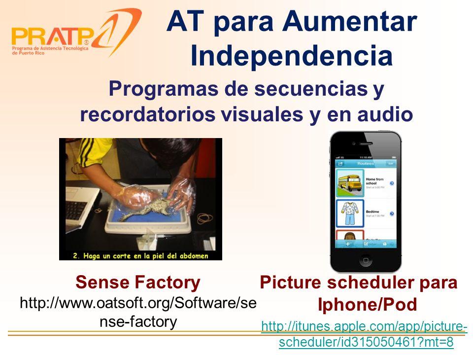 ® AT para Manejo Ansiedad y Conducta Itinerarios visuales Talking Photo Album http://www.attainmentcompany. com