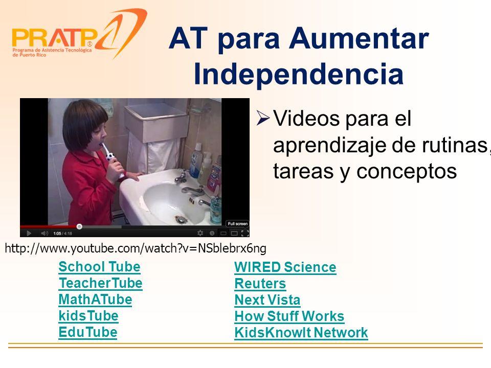 ® Interactive Visual Timetable –Recordatorio visual de secuencias de tareas y actividades –Manejo de conducta http://www.helpkidzlearn.com/parents/int